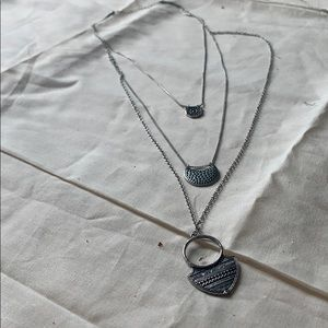 three layered necklace
